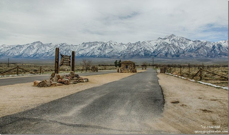 entrance Manzanar National Historic Site Independence California