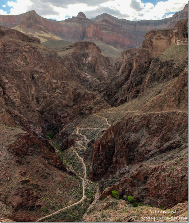 Devils corkscrew Bright Angel trail Grand Canyon National Park Arizona