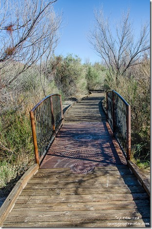 Bridge boardwalk Point of Rocks Ash Meadows National Wildlife Refuge Nevada