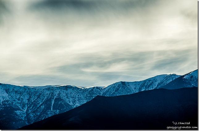 Snowy Panamint Range Death Valley National Park California