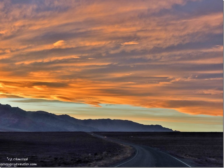 Sunset Panamint Range Badwater Basin Road Death Valley National Park California