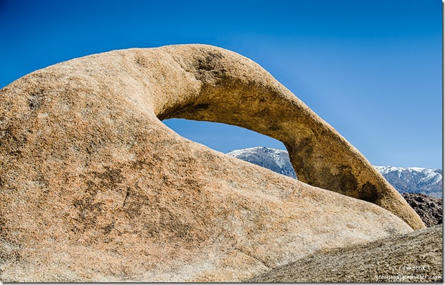 Inyo Mountains thru Mobius Arch Alabama Hills Lone Pine California