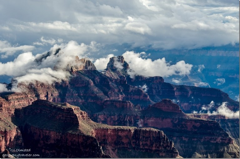 inversion Brahma & Zoroaster temples North Rim Grand Canyon National Park Arizona