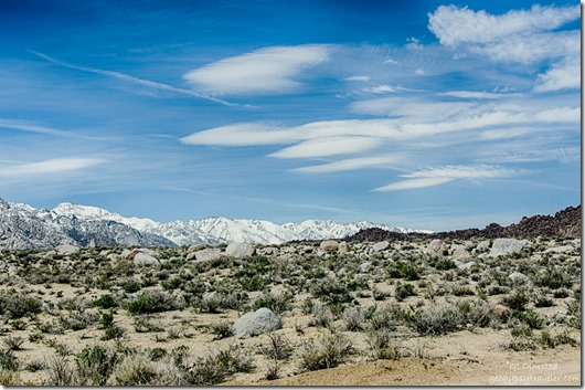 Eastern Sierras & Alabama Hills Tuttle Creekk campground Lone Pine California