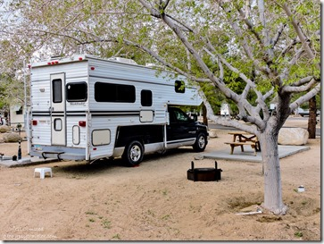 Truckcamper Boulder Creek RV Resort Lone Pine California
