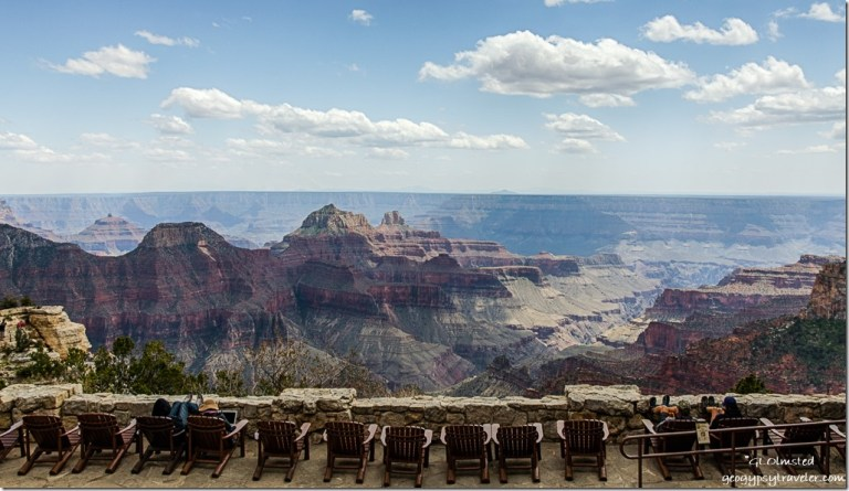 Canyon & Lodge veranda North Rim Grand Canyon National Park Arizona