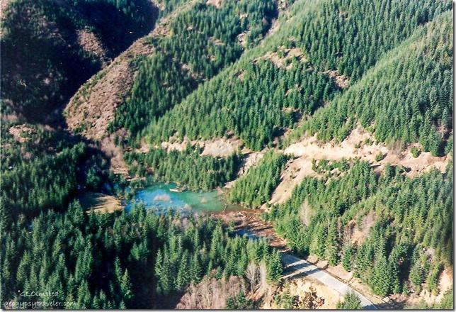 Flight To Pine Creek Work Station FS90 Blocked culvert 2-13 pm Gifford Pinchot National Forest Cougar Washington 1996