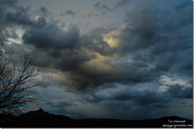 stormy sunset Martin Mountain Kirkland Arizona