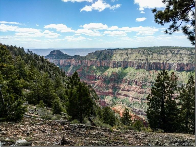 Transept canyon Walhalla plateau Oza butte South Rim from North Rim Grand Canyon National Park Arizona