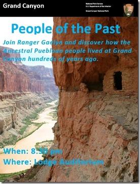 Evening program sign North Rim Grand Canyon National Park Arizona