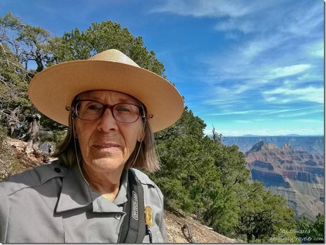 Ranger Gaelyn canyon Transept trail North Rim Grand Canyon National Park Arizona