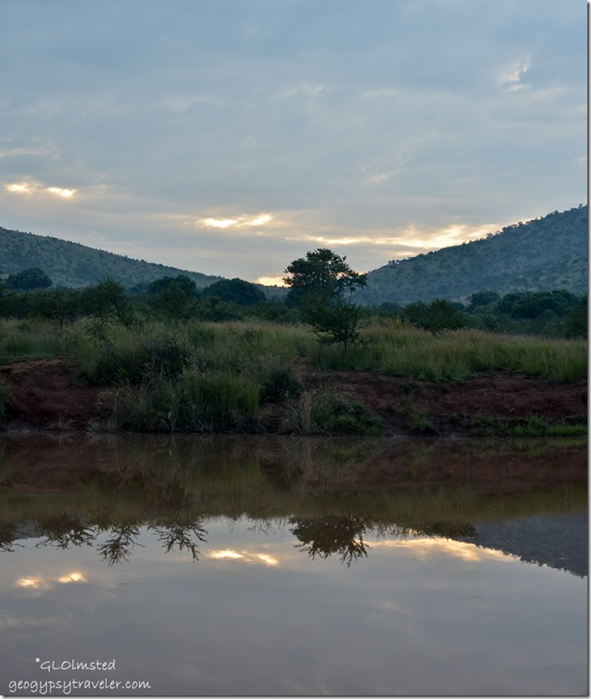 Sunrise reflection Pilanesberg Game Reserve South Africa