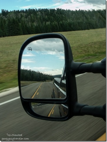 Side mirror Meadow SR67 Kaibab National Forest Arizona