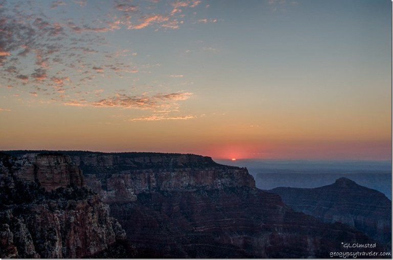 sunrise Cape Royal North Rim Grand Canyon National Park Arizona