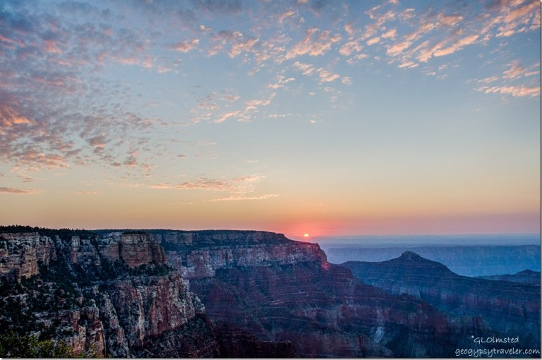 soltice sunrise Cape Royal North Rim Grand Canyon National Park Arizona
