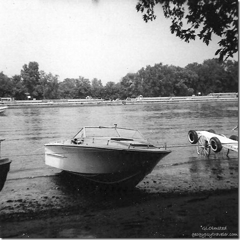 Dad's boat Six-Pac on the Illinois River