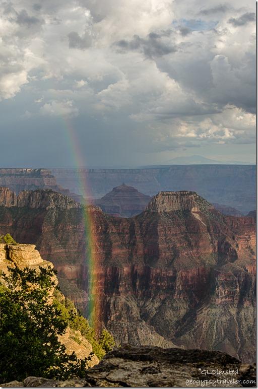 rainbow canyon from Lodge North Rim Grand Canyon National Park Arizona