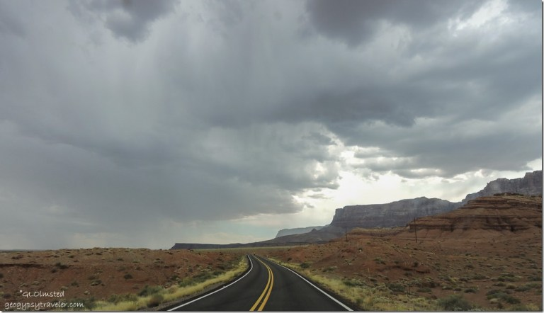 stormy sky Vermilion Cliffs SR89A West Arizona