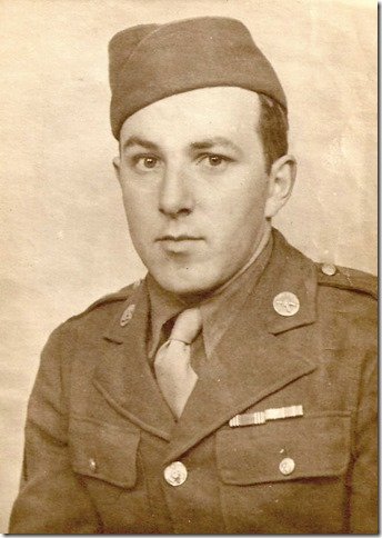 Ray Olmsted in Army uniform 1940s