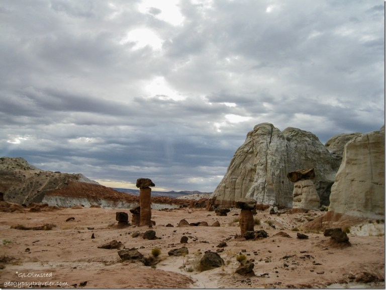 Storm over toadstools & The Rimrocks Grand Staircase Escalante National Monument Utah