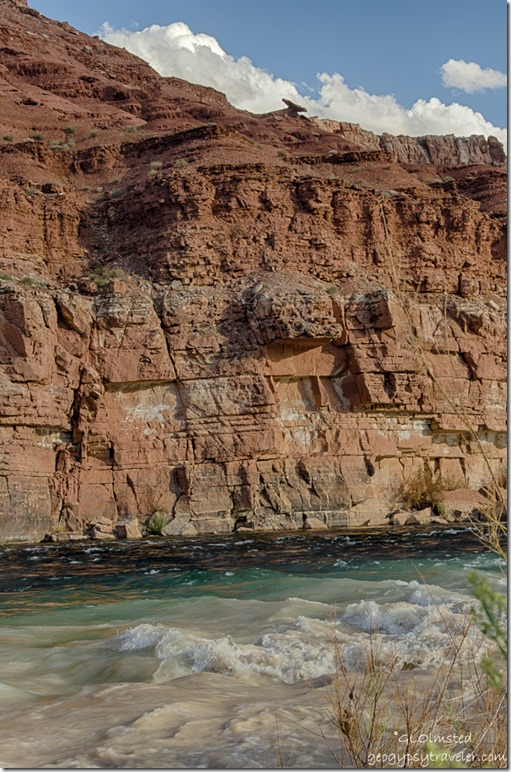 Colorado River cliffs clouds Lee's Ferry Glen Canyon National Recreation Area Arizona
