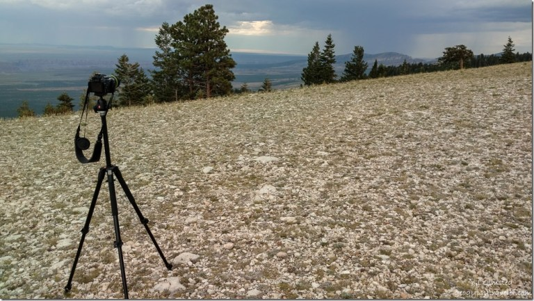 camera on tripod storm Marble View Kaibab National Forest Arizona
