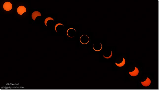 Annular solar eclipse series North Rim Grand Canyon National Park Arizona