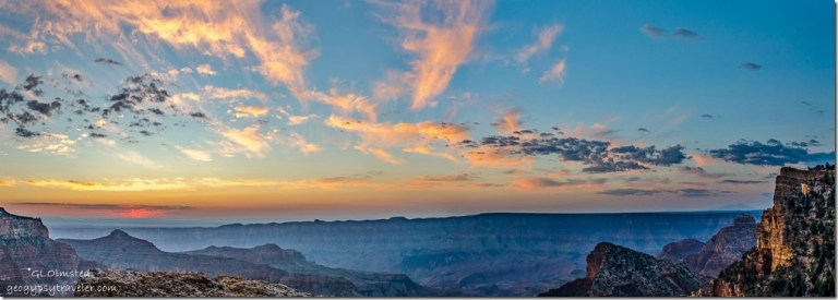 Angels Window sunrise Walhalla Plateau North Rim Grand Canyon National Park Arizona