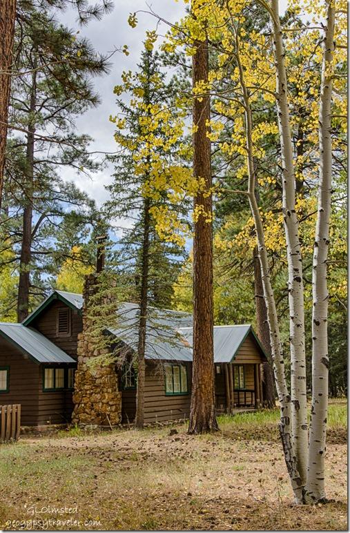 Ranger cabin fall aspen North Rim Grand Canyon National Park Arizona