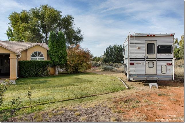 truck camper Bill's house Kanab Utah