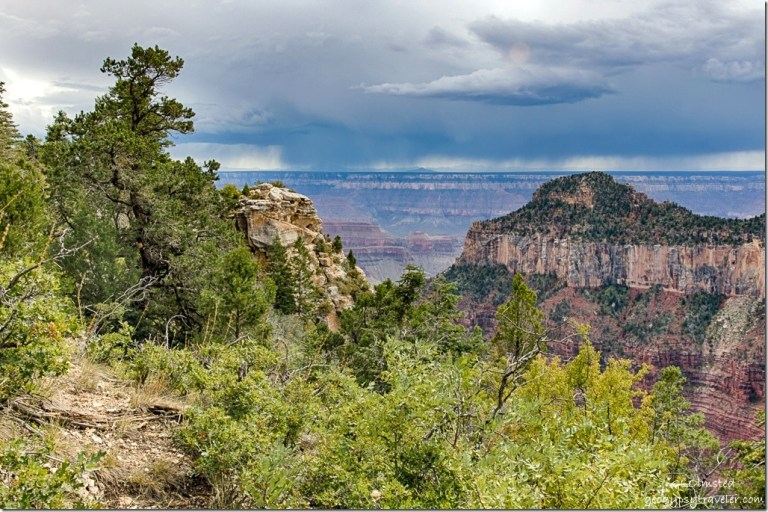 Transept trail Oza Butte storm North Rim Grand Canyon National Park Arizona