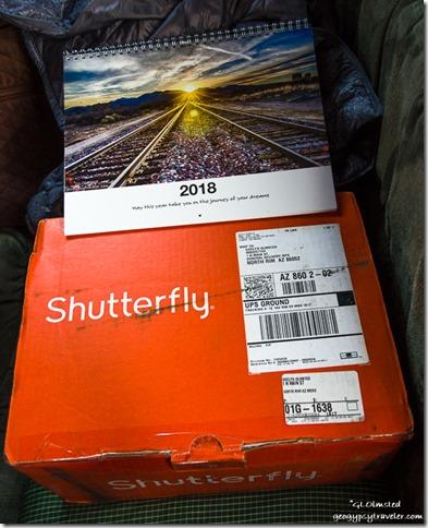 2018 calendar & shutterfly box