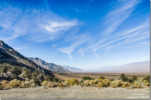 View North Owens Valley Whitney Portal Road Inyo National Forest California