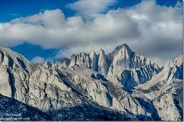 morning light Mount Whitney Eastern Sierras Alabama Hills Lone Pine California