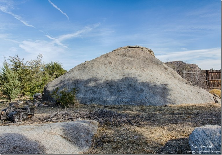 boulder Berta's yard Yarnell Arizona