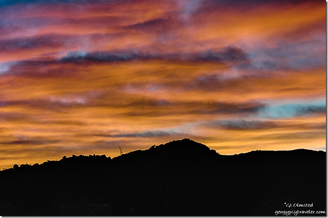 Weaver Mountains sunset Yarnell Arizona