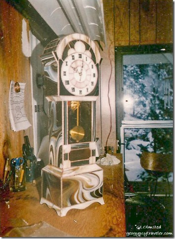 stained glass Grandfather clock Wenatchee Washington