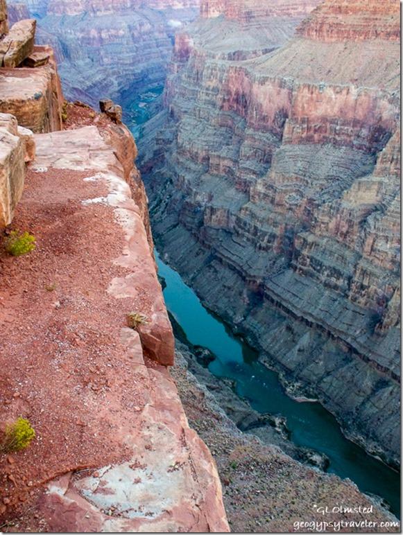 Colorado River upstream from Tuweep overlook Grand Canyon National Park Arizona