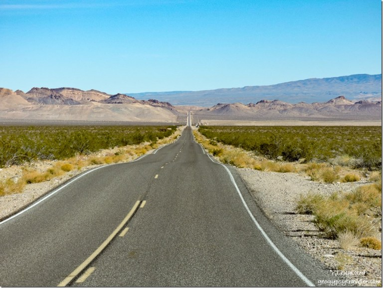 Daylight Pass Road CA NV border