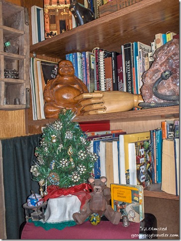 Christmas tree & bookcase Yarnell Arizona