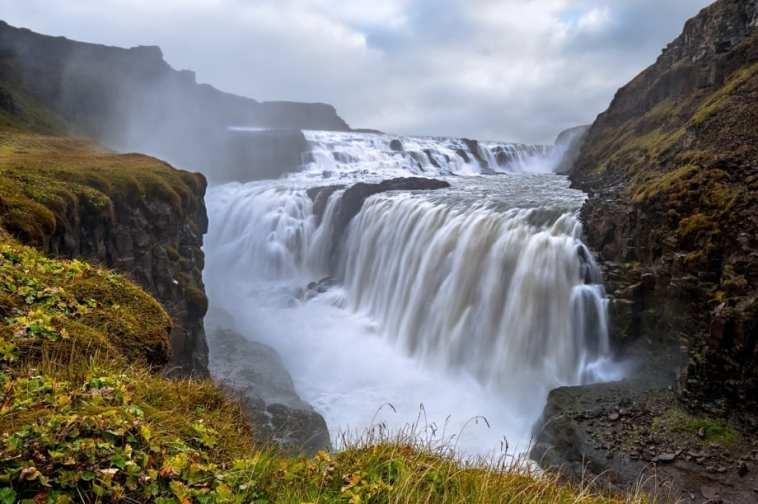 Gullfoss Waterfall golden Circle