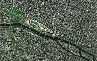 Spot 5, imagen 2003, resolución espacial de 2.5 mts RGB, Color natural