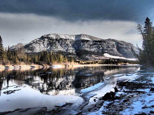 Grotto mountain reflection