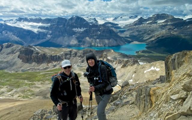 couple on summit of Cirque Peak