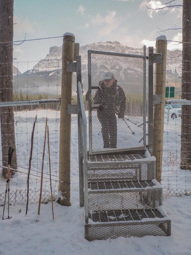 man enters gate