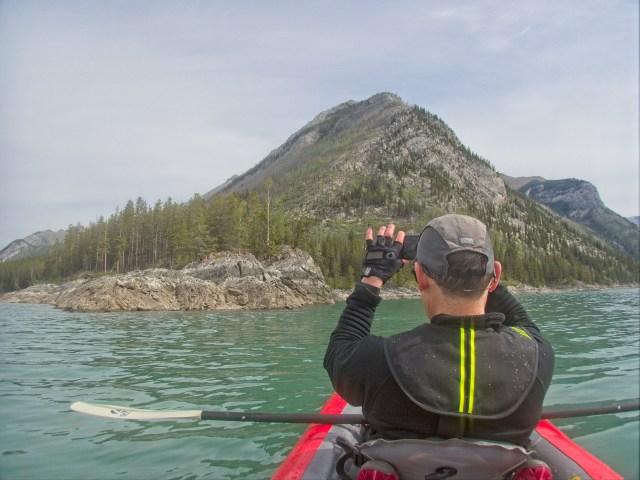 photographer on kayak