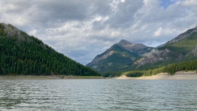 paddling south on Barrier Lake