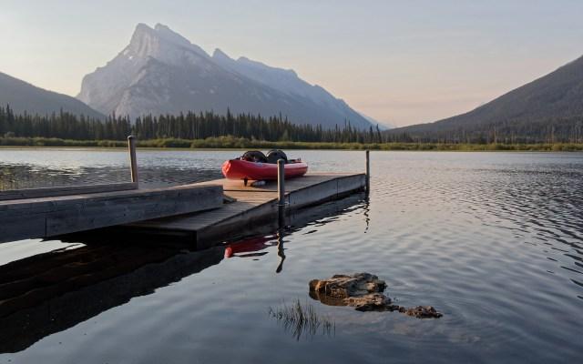 kayak on dock at first Vermilion Lake