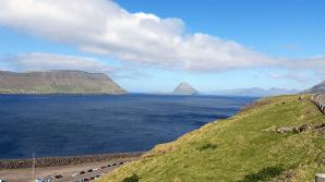 Walking from the bus to Kirkjubøur 2016 © Tracey M Benson