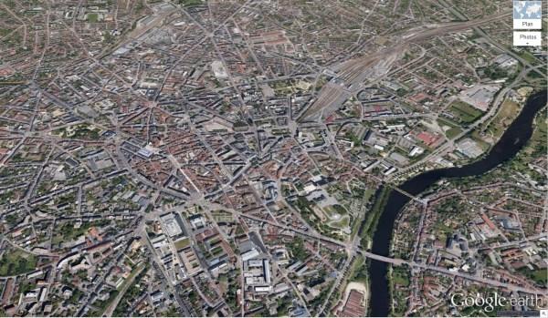 Vue de Limoges [Google Earth]